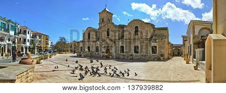CYPRUS, LARNACA - MARCH 14, 2016: The old church of Saint Lazarus in the city of Larnaca, Cyprus