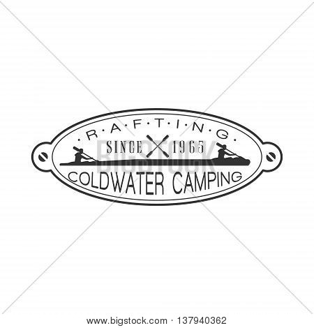 Coldwater Camping Emblem Classic Style Vector Logo With Calligraphic Text On White Background