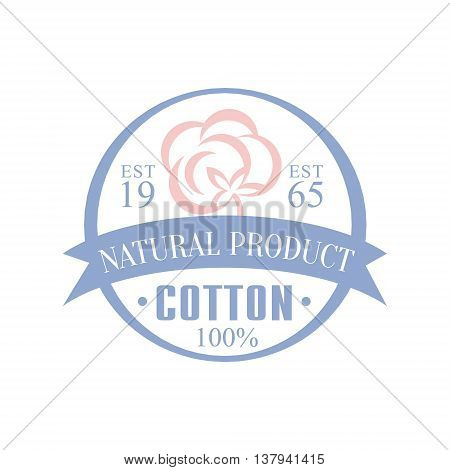 Cotton Natural Product Logo Vector Classic Style Design On White Background
