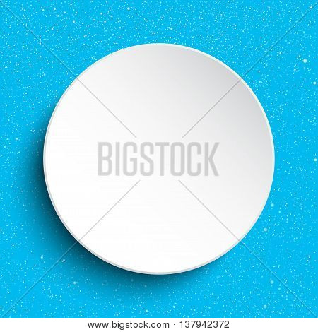 Vector white frame on a background of snow.