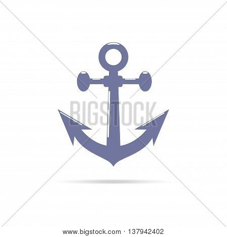 Anchor vector icon. Isolated on white background.