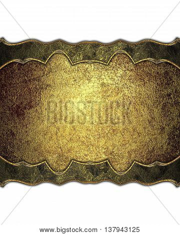 Golden decoration. Template for design. copy space for ad brochure or announcement invitation, abstract background.