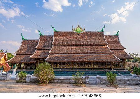 Wat Xieng thong temple in Luang Pra bang Laos.
