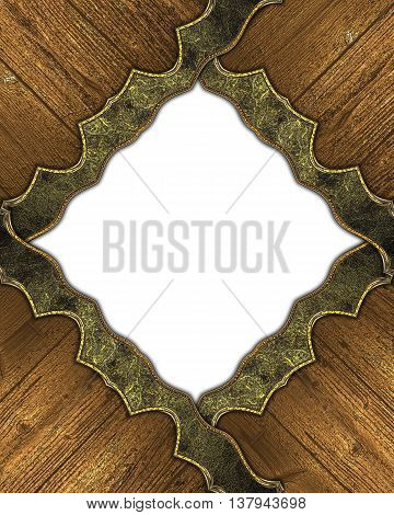Grunge Frame With Wood Elements. Template For Design And For Ad Brochure Or Announcement Invitation