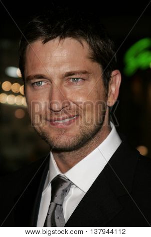 Gerard Butler at the Los Angeles premiere of '300' held at the Grauman's Chinese in Hollywood, USA on March 5, 2007.