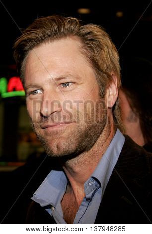 Aaron Eckhart at the Los Angeles premiere of '300' held at the Grauman's Chinese in Hollywood, USA on March 5, 2007.