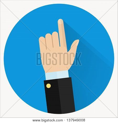 Advice icon. Businessman hand with pointing finger. Consultant giving advice.