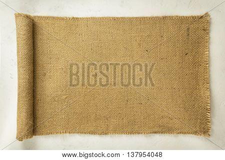 burlap hessian sacking on wall background
