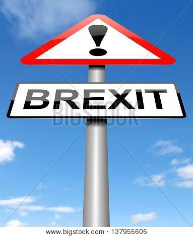 Brexit Sign Concept.