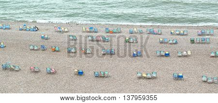 Large group of summer chairs in Beer Devon