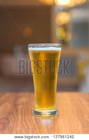 Glass Of Beer In Pub And Restaurant