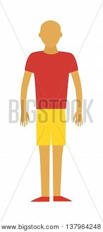 Strong sport man strength health lifestyle and strong attractive power muscle sportman. Sport man workout. Healthy built strong sport man model fashionable active sportswear cartoon vector silhouette