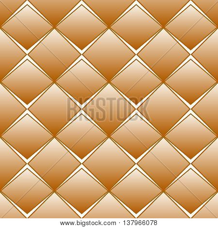 Brown rhomb seamless pattern with white gaps