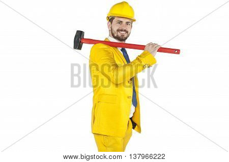 Developer With A Sledgehammer Ready For Action