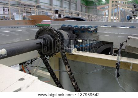 The chain and shaft drive Line Conveyor