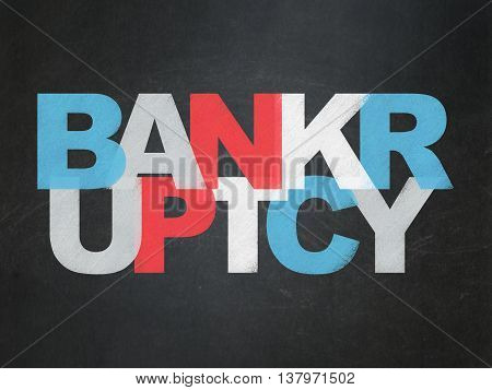 Banking concept: Painted multicolor text Bankruptcy on School board background, School Board