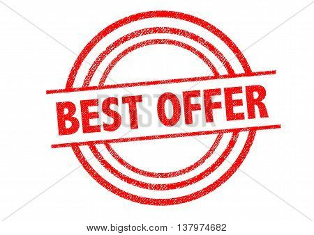 BEST OFFER Rubber Stamp over a white background.