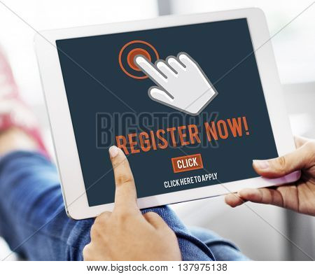 Register Registration Enter Apply Membership Concept