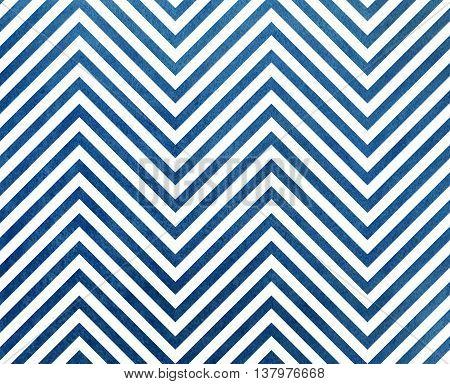 Watercolor Dark Blue Stripes Background, Chevron.