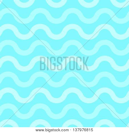 Azure, turquoise, blue wave seamless pattern for sea and summer background