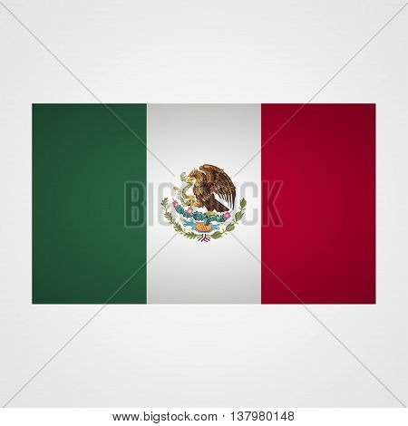 Mexico flag on a gray background. Vector illustration
