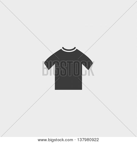 T-shirt icon in a flat design in black color. Vector illustration eps10