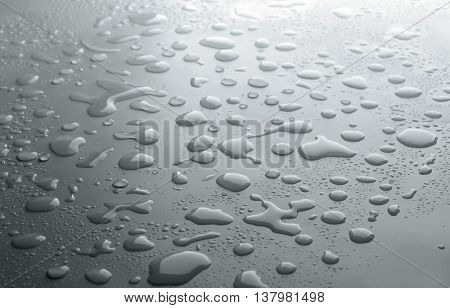 Drops on light background