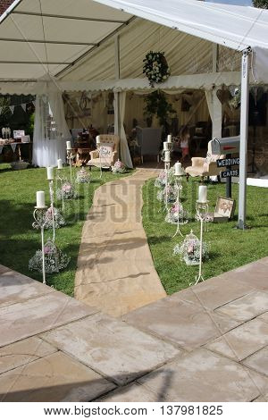 A marquee dressed for an english wedding, 2016