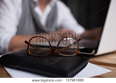Man Posing On Workplace In Startup Office