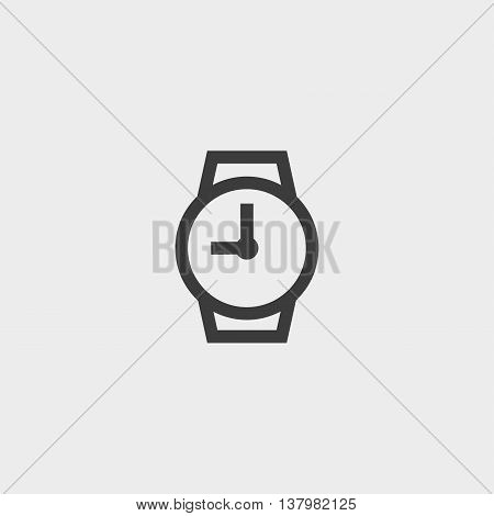 Wristwatches icon in a flat design in black color. Vector illustration eps10