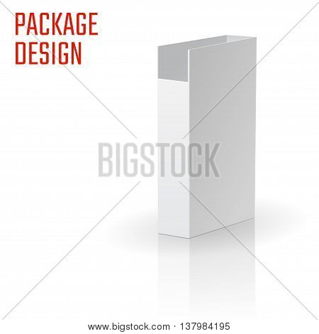 Vector Illustration of Clear Craft Box for Design, Website, Background, Banner. Retail Folding package Template. Fold pack Blank  for document for your brand on it
