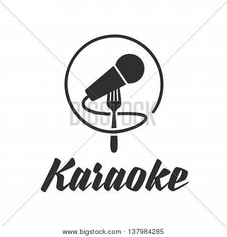 Logo template karaoke. Stock Vector Microphone for Karaoke. Stylized icon of a microphone.