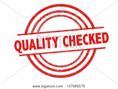 QUALITY CHECKED Rubber Stamp over a white background.