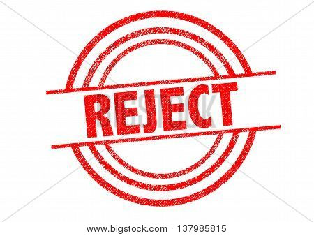 REJECT Rubber Stamp over a white background.