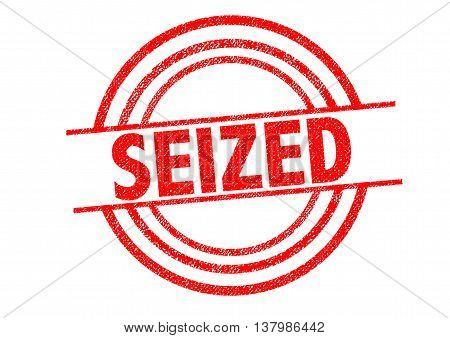 SEIZED Rubber Stamp over a white background.