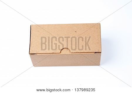 Cardboard box isolated on a white background