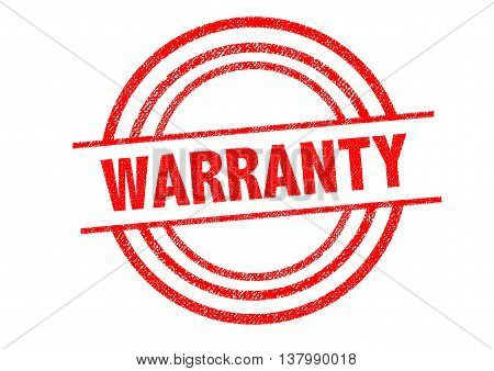 WARRANTY Rubber Stamp over a white background.