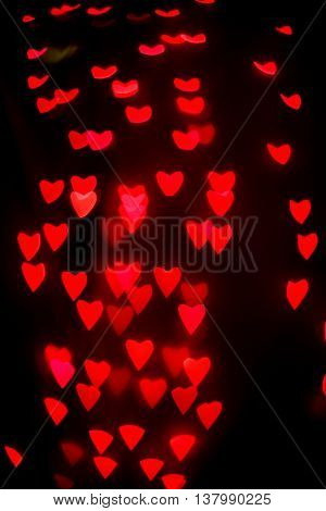 Red Bokeh Background Heart