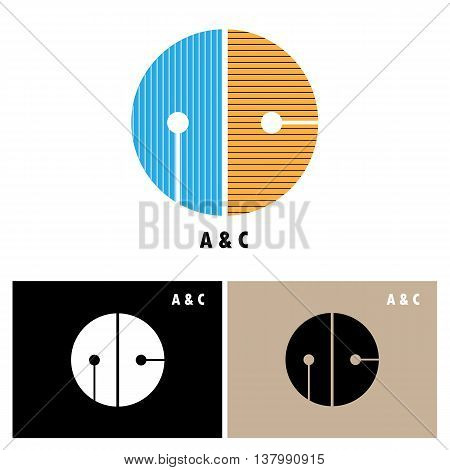 Creative AC-letter company logo design.AC-company group linked letter logo design.Vector illustration