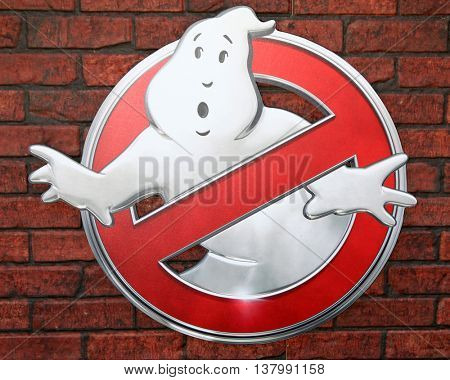LOS ANGELES - JUL 9:  Ghostbusters Emblem at the Ghostbusters Premiere at the TCL Chinese Theater IMAX on July 9, 2016 in Los Angeles, CA