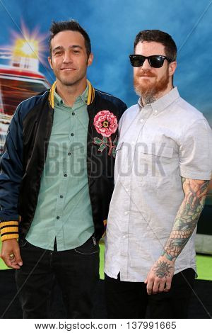 LOS ANGELES - JUL 9:  Pete Wentz, Andy Hurley at the Ghostbusters Premiere at the TCL Chinese Theater IMAX on July 9, 2016 in Los Angeles, CA