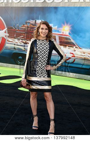 LOS ANGELES - JUL 9:  Alison Holker at the Ghostbusters Premiere at the TCL Chinese Theater IMAX on July 9, 2016 in Los Angeles, CA