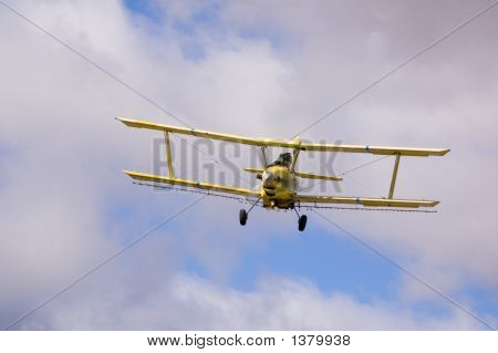 Crop Duster Spraying Fields