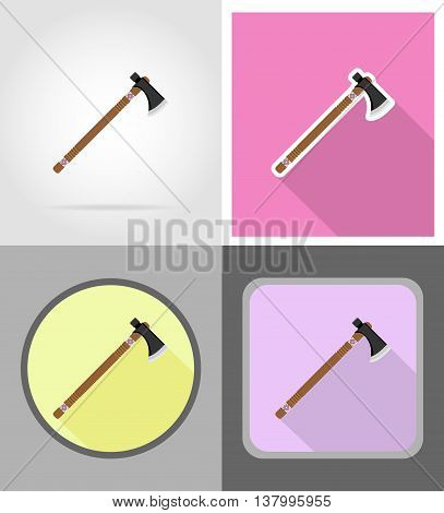 tomahawk wild west flat icons vector illustration isolated on background