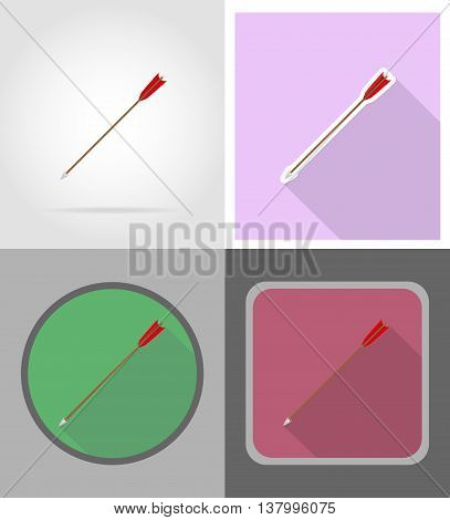 arrows for bow wild west flat icons vector illustration isolated on background