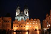 Tyn Church And Old Town Square In Prague poster