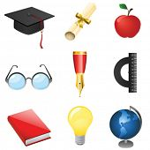 set of education vector