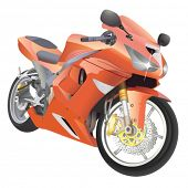 motorcycle great details vector