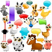farm animal cartoon set