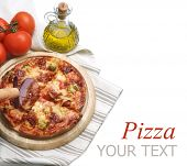 pic of hot fresh pizza  - Pizza - JPG
